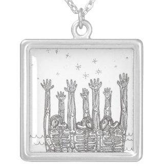 Big Dipper Square Pendant Necklace