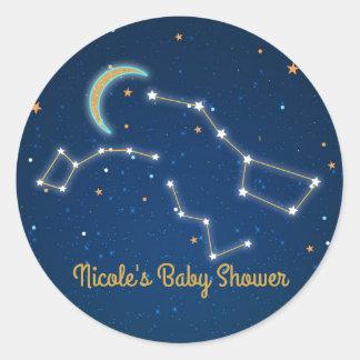 Big Dipper Star Gazing Constellation Celestial Classic Round Sticker