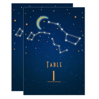 Big Dipper Star Gazing Constellation Table Number