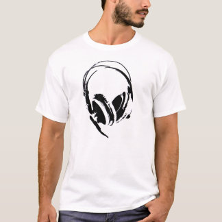 big dj headphones music t-shirt