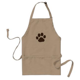 Big Dog Paw Print Standard Apron