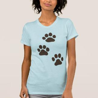 Big Dog Paw Prints T-Shirt