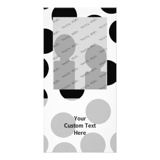 Big Dots. Black and White Pattern. Picture Card