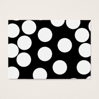 Big Dots in Black and White. Business Card