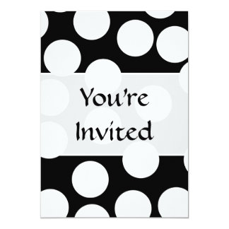 Big Dots in Black and White. Card