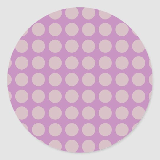 Big Dots - Lilac Classic Round Sticker