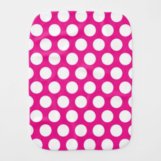 Big Dots on Hot Pink Design Burp Cloth