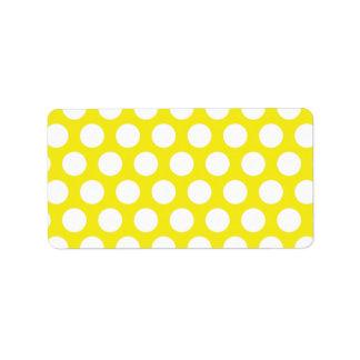 Big Dots on Yellow Design