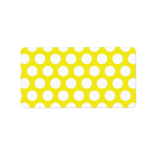 Big Dots on Yellow Design Label