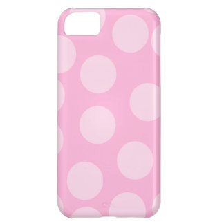 Big Dots Pattern. Pale Pink and Candy Pink. iPhone 5C Cover