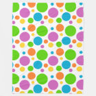 Big Dots Polka Dots Fleece Blanket