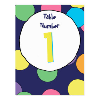 Big Dots Table Number Card Postcard