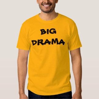 BIG DRAMA with KBP website on back & walking masks T-shirt