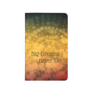 Big dreams never die abstract pattern journal