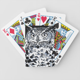 Big Ear Owl Art Bicycle Playing Cards