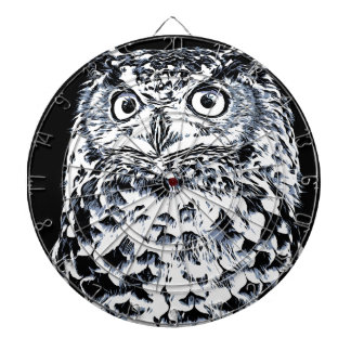 Big Ear Owl Art Dartboard