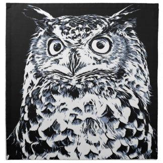 Big Ear Owl Art Napkin