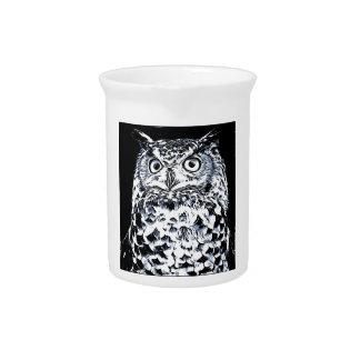 Big Ear Owl Art Pitcher