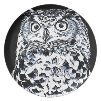 Big Ear Owl Art Plate