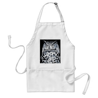 Big Ear Owl Art Standard Apron