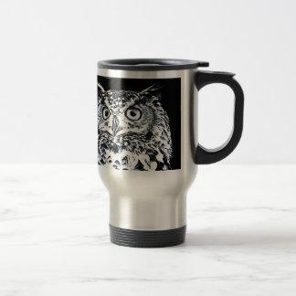 Big Ear Owl Art Travel Mug