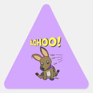 Big eared doggy triangle sticker