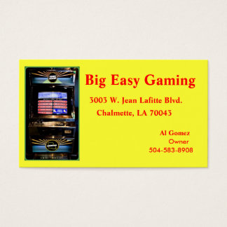 Big Easy Gaming, 3003 W. Jean Lafitte Blv... Business Card