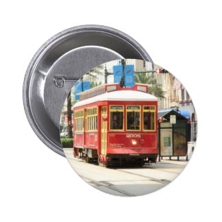 BIG EASY, NEW ORLEANS STREETCAR 2 INCH ROUND BUTTON