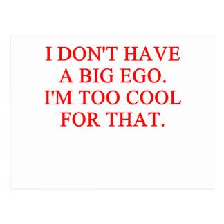 big ego postcard