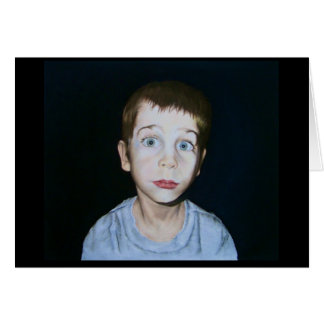 Big Eye Boy by Debby Wang Card