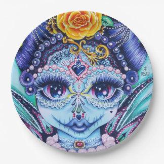Big eye creepy Queen Paper plates