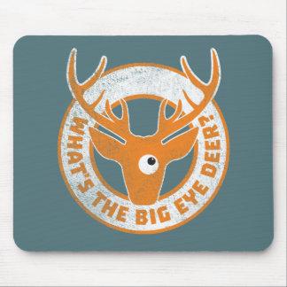 Big Eye Deer Worn Orange Mouse Pad
