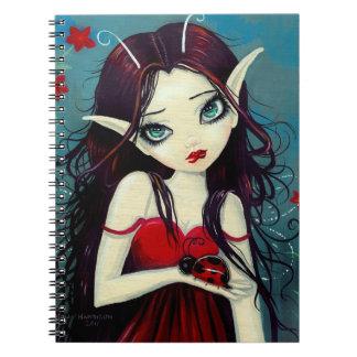 Big Eye Fairy and Ladybug Notebook