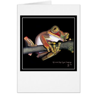 Big-Eyed African Tree Frog Card