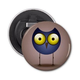 Big Eyed Blue Owl Bottle Opener