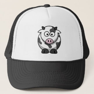 Big Eyed Funny Round Cartoon Cow Trucker Hat