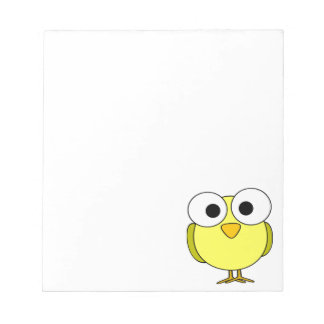 Big Eyed Yellow Bird Notepad