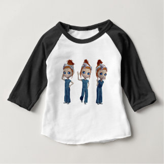 Big eyes doll Blue Baby T-Shirt