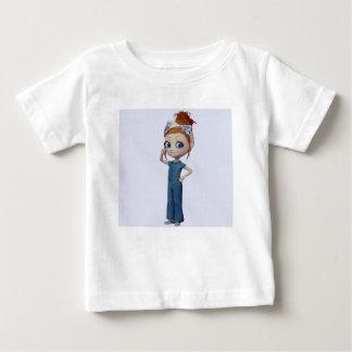Big eyes doll Blue Baby T-Shirt