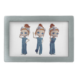 Big eyes doll Blue Belt Buckles
