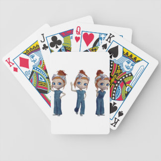 Big eyes doll Blue Bicycle Playing Cards
