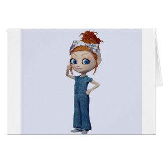 Big eyes doll Blue Card