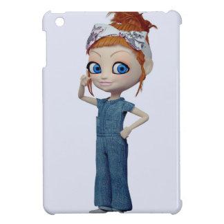 Big eyes doll Blue Case For The iPad Mini