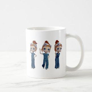Big eyes doll Blue Coffee Mug