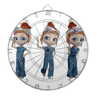 Big eyes doll Blue Dartboard