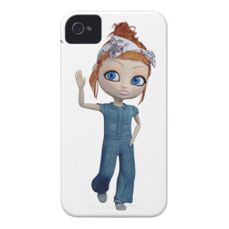 Big eyes doll Blue iPhone 4 Cases