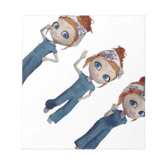 Big eyes doll Blue Notepad