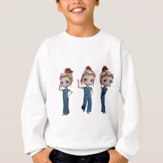 Big eyes doll Blue Sweatshirt