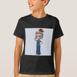 Big eyes doll Blue T-Shirt