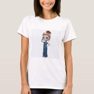 Big eyes doll Blue T-Shirt